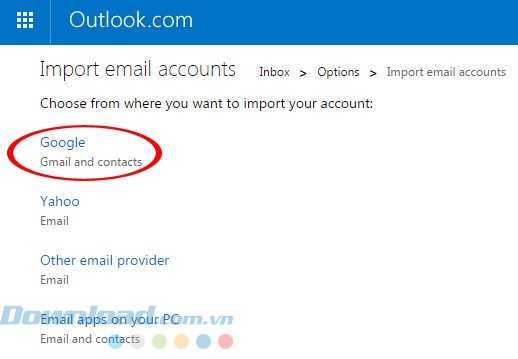 Cách đồng bộ email trong Outlook (3)