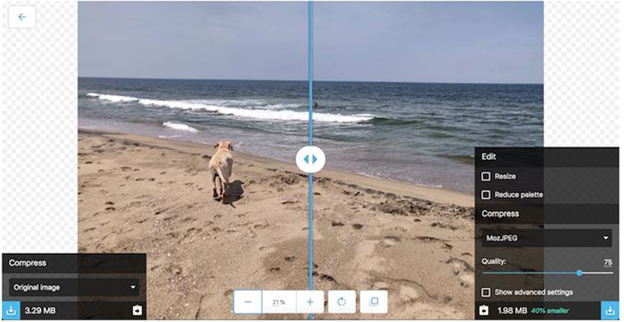 Ứng dụng Compress and Resize Images