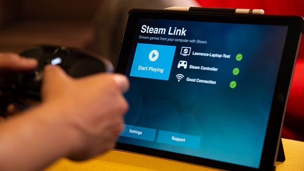 Chơi game Steam bằng tablet