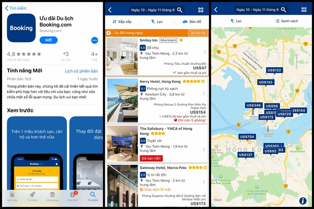 Ứng dụng Booking
