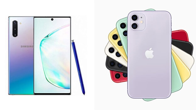 Galaxy Note 10 và iPhone 11