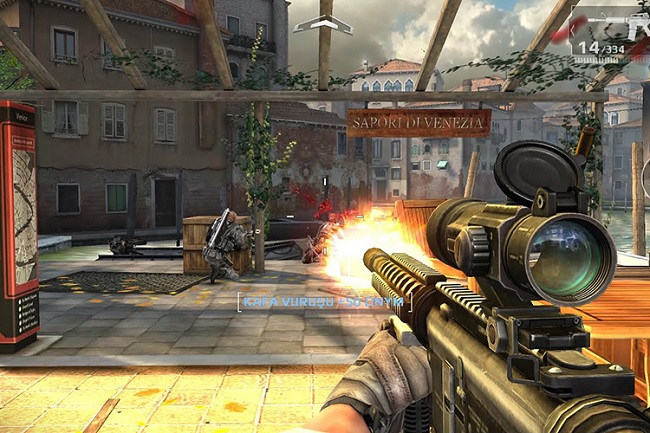 Giao diện game Modern Combat 5: Blackout