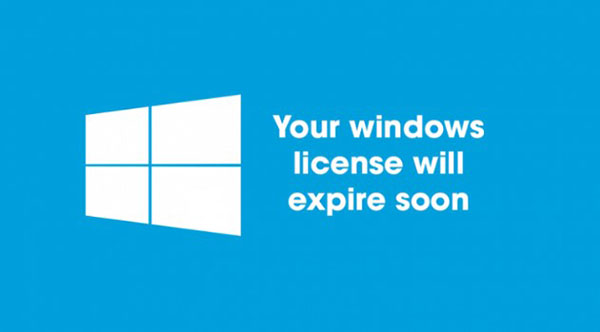 Thông báo Your Windows license will expire soon trên Windows 10