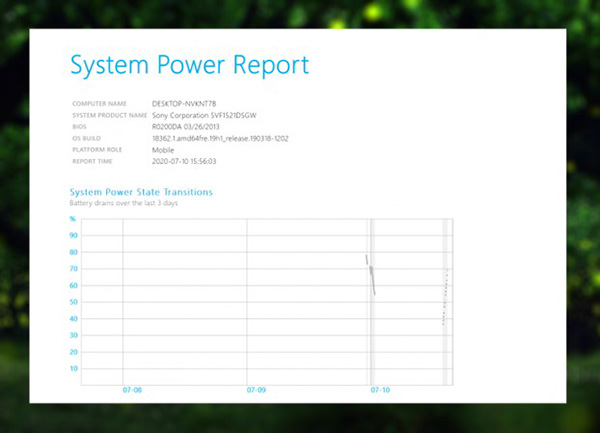 File báo cáo System Power Report