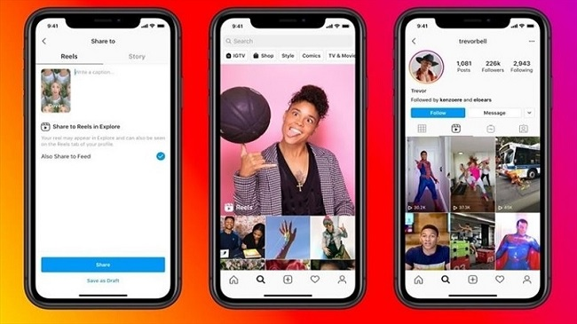 Instagram Reels hỗ trợ cả Android và iOS