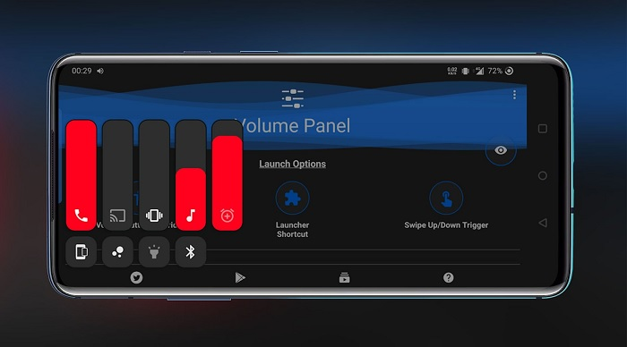 Giao diện của ứng dụng Volume Control Panel Pro