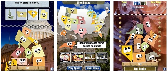 Giao diện game Stack the States