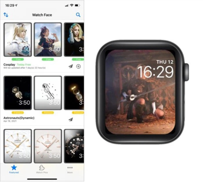 Ứng dụng Watch Face Albums